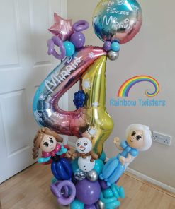 Large Deluxe Themed Number Balloon Centrepiece