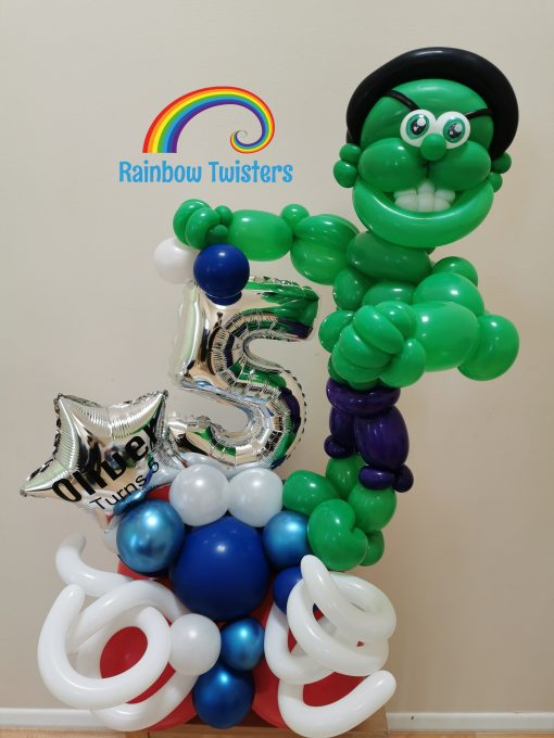 Superhero Birthday Balloons Rainbow Twisters Glasgow Balloon Company