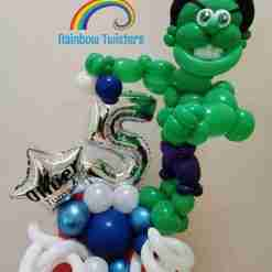 Superhero Birthday Balloons Rainbow Twisters Glasgow Balloon Company