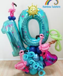 Large Deluxe Themed Double Number Balloon Centrepiece