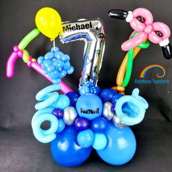 Game theme Birthday Balloons Rainbow Twisters Glasgow Balloon Company