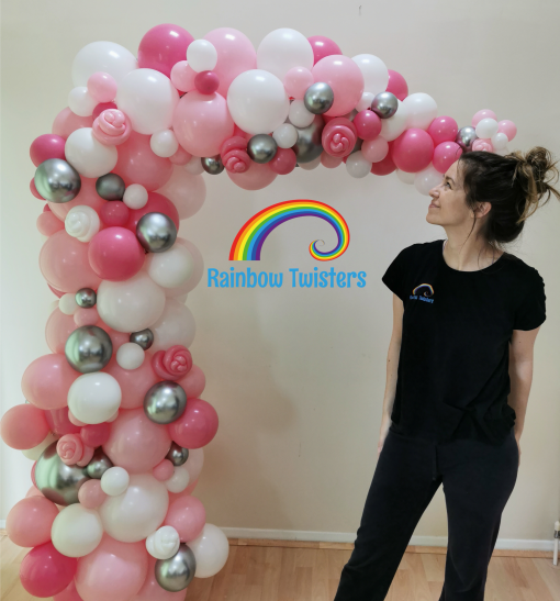 balloon arches rainbow twisters glasgow balloon company