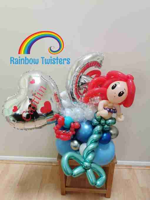 Mermaid Birthday Balloon
