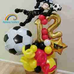 Football Birthday Balloons Rainbow Twisters Glasgow Balloon Company