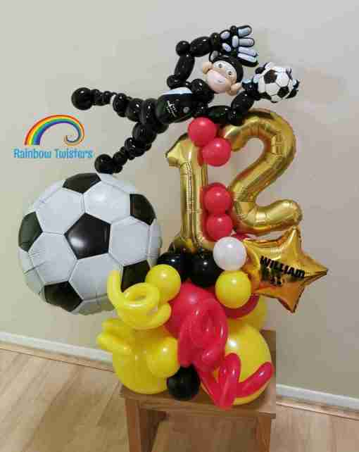 Football Birthday Balloons Rainbow Twisters Glasgow Balloon Company