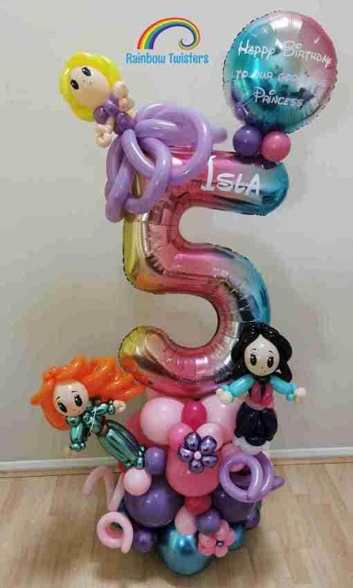 Themed Birthday Balloons Rainbow Twisters Glasgow Balloon Company