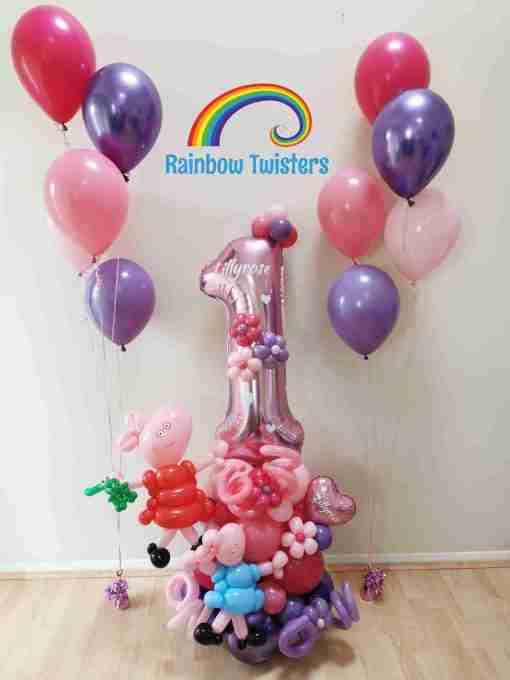 pig Rainbow Twisters Glasgow Balloon Company