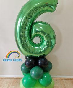 Basic Balloon Number Tower Rainbow Twisters Glasgow Balloon Company