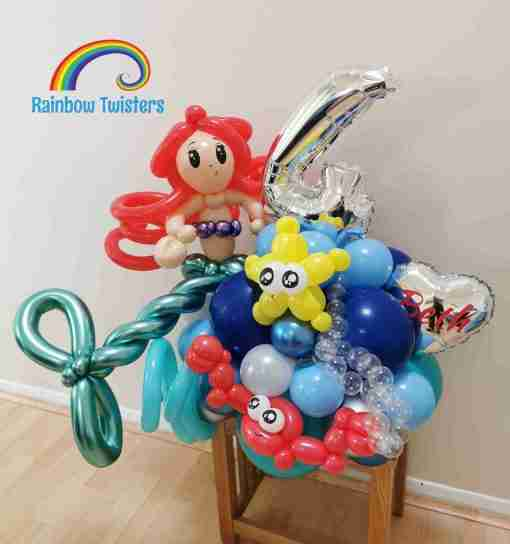 Mermaid Birthday Balloons Rainbow Twisters Glasgow Balloon Company