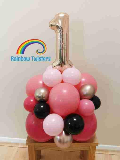 Organic Balloon Number Tower Rainbow Twisters Glasgow Balloon Company