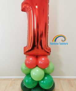 Basic Balloon Number Tower Rainbow Twisters Glasgow Balloons
