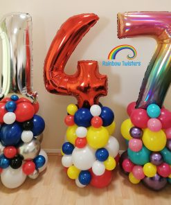 Organic Balloon Number Tower Rainbow Twisters Glasgow Balloon Company