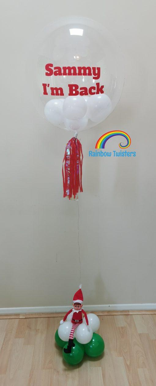 Floating Light up Christmas Balloon