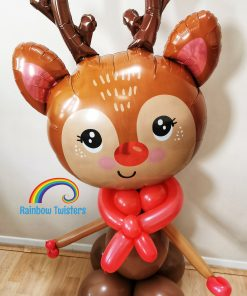 Reindeer Balloon Glasgow Rainbow Twisters