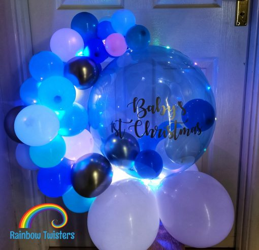 Baby's 1st Christmas Balloon by Rainbow Twisters Glasgow