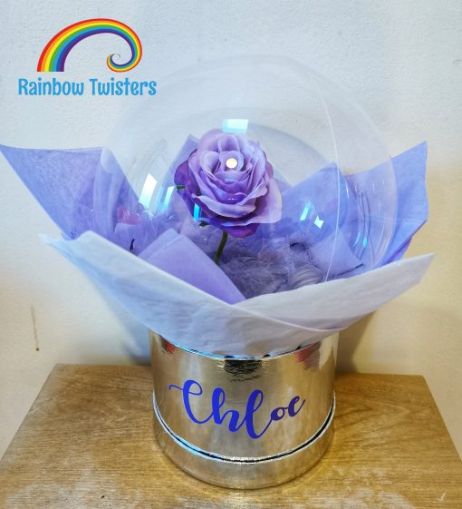 Rose Bubble Balloon Rainbow Twisters Glasgow Balloon Company