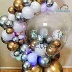 Balloon Hug Rainbow Twisters Personalised Balloon Gift Glasgow Balloon Company