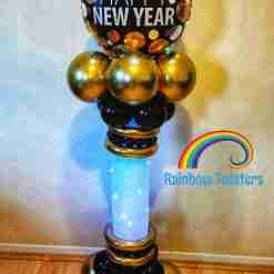 New Years Balloon Column Rainbow Twisters Glasgow