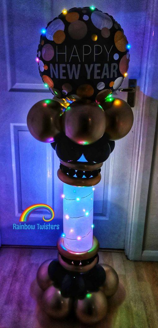 New Years Balloon Column Rainbow Twisters Glasgow