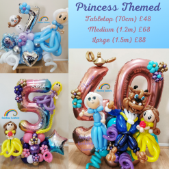 Princess Themed Birthday Balloons Rainbow Twisters Glasgow Balloon Company
