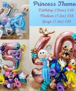 Princess Themed Birthday Balloons Rainbow Twisters Glasgow Balloon Company