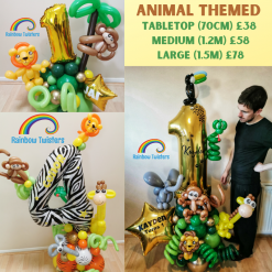 Animal Themed Birthday Balloons Rainbow Twisters Glasgow