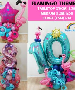 Flamingo Themed Birthday Balloons Rainbow Twisters Glasgow Balloon Company