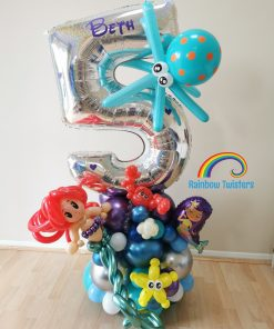 mermaid birthday balloon rainbow twisters glasgow balloons