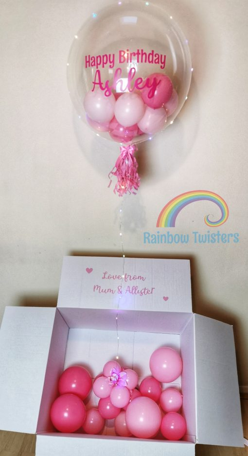 Bubble Balloon Surprise Box Rainbow Twisters Glasgow