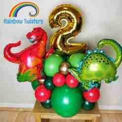 Basic Themed Birthday Balloon Centrepieces by Rainbow Twisters Glasgow Balloon Company
