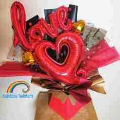 Love Balloon Bouquets Rainbow Twisters Balloon Gifts and Delivery