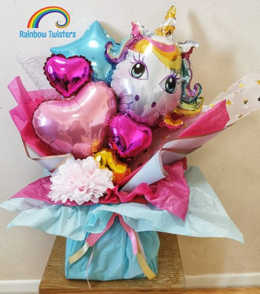 Unicorn Balloon Bouquets Rainbow Twisters Balloon Gifts and Delivery