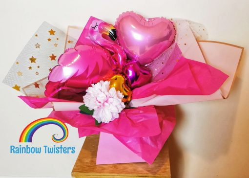 Flamingo Balloon Bouquets Rainbow Twisters Balloon Gifts and Delivery