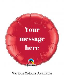 Personalised Message Balloon Glasgow Rainbow Twisters Balloon Company