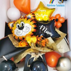 Tiger Balloon Bouquet Box Surprise